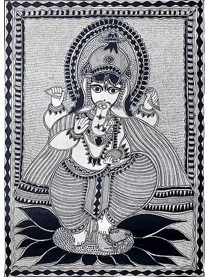 Bhagawan Ganesha Standing on His Mouse