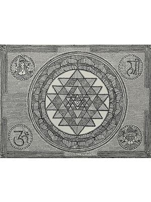 Auspicious Shri Yantra With Ganesha Lakshmi