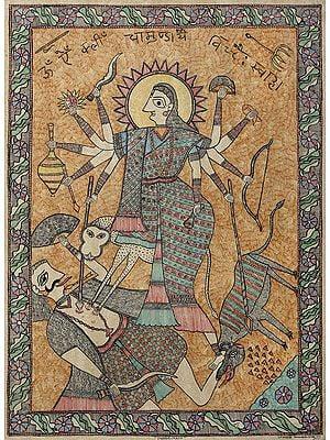 Devi Chamunda In Her Ferocious Elements