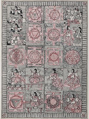 The Ten Forms of Goddess Kali with Yantras