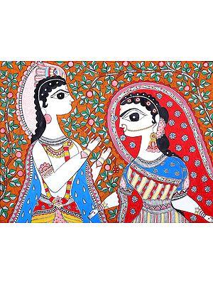 Krishna And Radha In Their Fondness