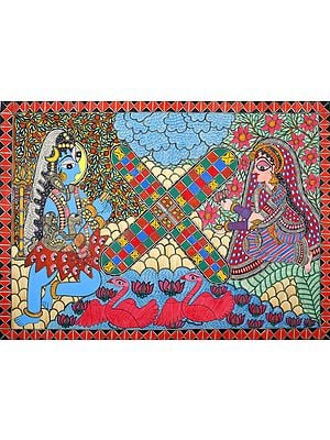 Lord Shiva and Parvati Play The Game of Dice