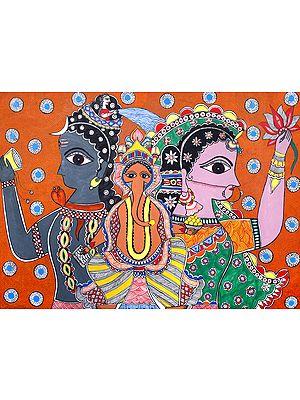 Lord Ganesha Shivaparivar