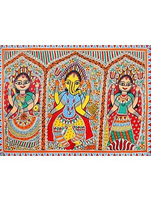 The Iconic Triad of Lakshmi, Ganesha and Saraswati
