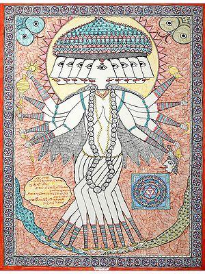 Mahakali with Yantra- The Cosmic Form of Goddess Kali