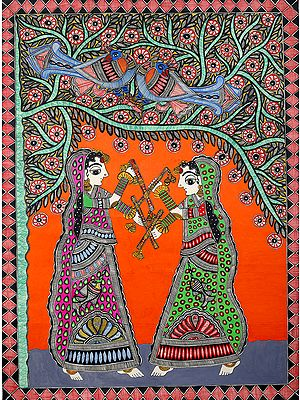 Damsels Playing Dandiya  (The Folk Dance of Gujarat)