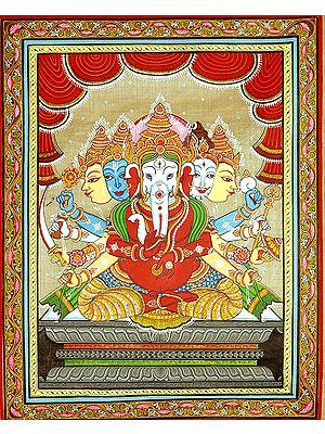Five Headed Cosmic Ganesha