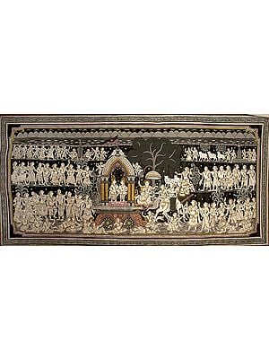 Krishna and Balarama Leaving for Mathura with Akrura
