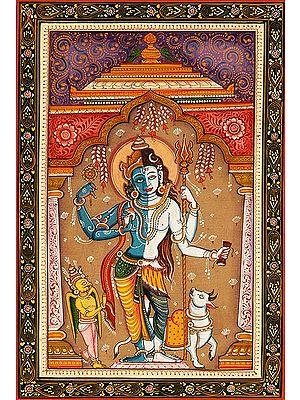 Hari Hara - The Composite Form of Lord Vishnu and Lord Shiva with Garuda and Nandi
