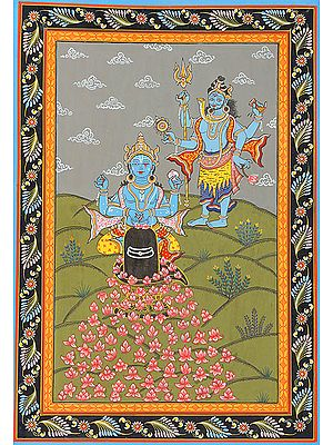 Vishnu Offering His Eye in Place of the Missing Lotus<br>(Illustration to the Shiva Purana)