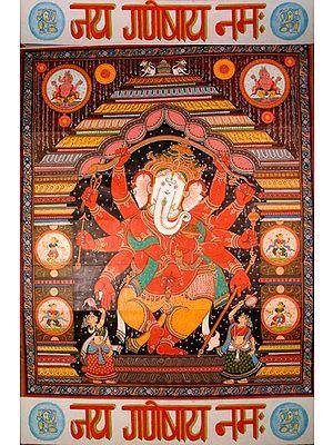 Jai Ganeshai Namah (Scroll Painting)