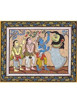 Krishna and friends Vanquish a Demon