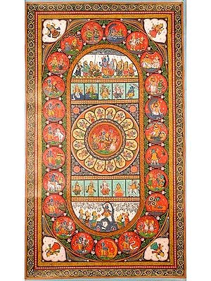 Krishna, the Rasamandala and Ten Avatars of Vishnu