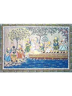 Krishna with Friends in the Boat