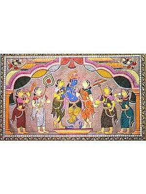 Krishna with his Female Friends