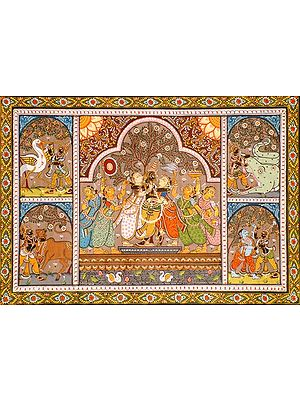 Krishna with His Lady Friends