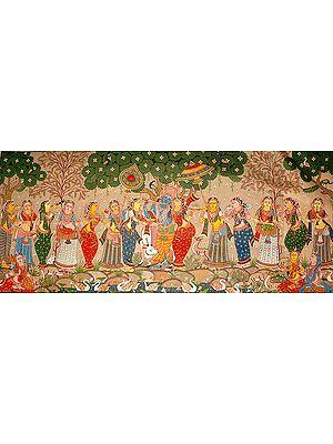 Krishna with Radha and Gopis