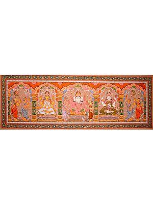 Lakshmi, Ganesha, and Saraswati