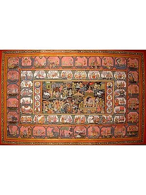 Life of Krishna with the Ten Avatars of Vishnu