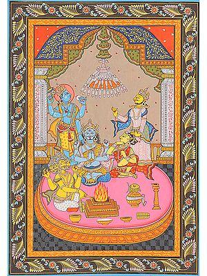 Shiva-vivaha: Shiva's Marriage<br>(Illustration to the Shiva Purana)