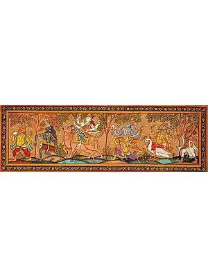 Lord Hanuman, Shiva Gana, Shiva, Vishnu, Brahma and Narada
