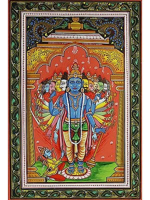 Lord Krishna Shows Vishvarupa to Arjuna (Gita Upadesha)