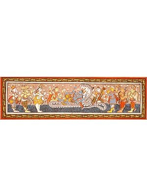 Lord Vishnu and an Assembly of Deities
