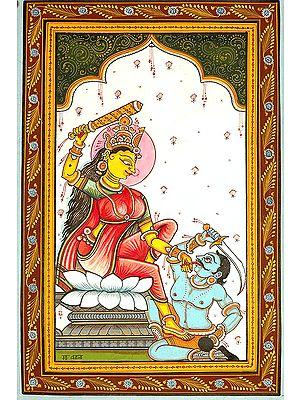 Mahavidya Bagalamukhi Pulls The 'Evil Tongue' (Ten Mahavidya Series)