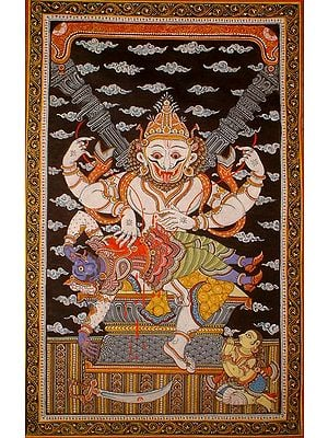 Narasimha Avatar of Vishnu with Prahlada
