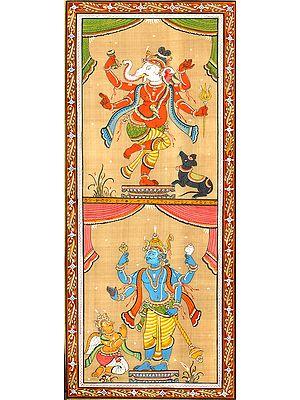 Ganesha and Vishnu