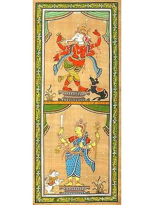 Ganesha and Durga