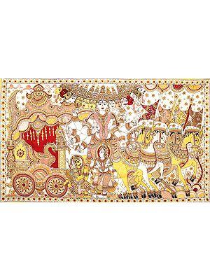 Krishna Showing His Vishwarupa to Arjuna During Mahabharata War - Large Size