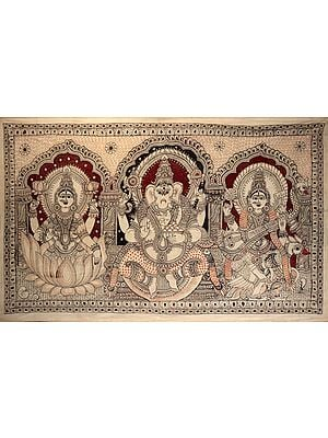Large Size Lakshmi, Ganesha and Saraswati