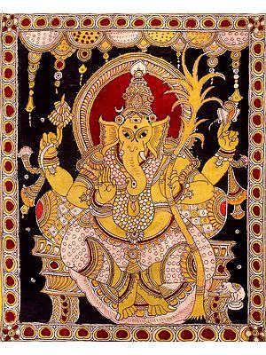 Ganesha Seated On a Throne