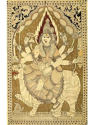 Tranquil Roopa Of Devi Durga, With Superb Detailing