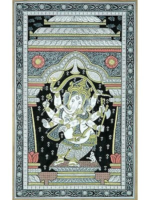 Dancing Ganesha with Eight Arms