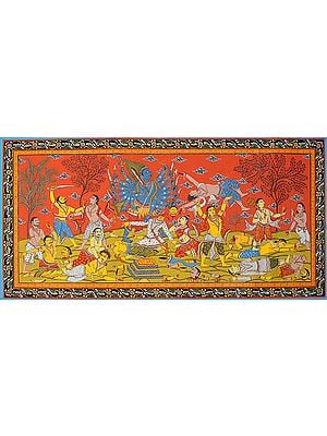 Virabhadra Destroying the Yajna of Daksha (Illustration to the Shiva Purana)
