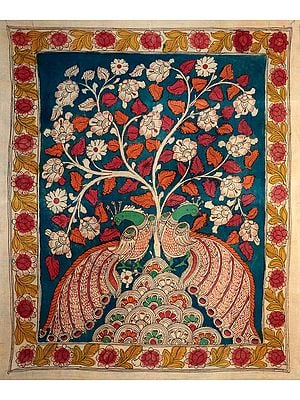 Tree of Life with Perched Peacocks