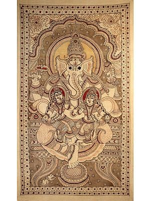 Large Size Lord Ganesha with Riddhi and Siddhi