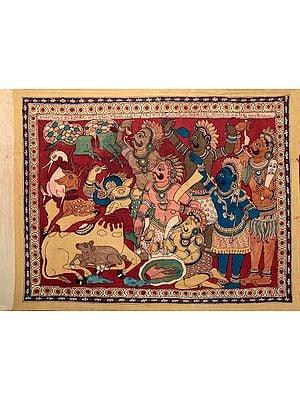 Rakshasas offering Animal Sacrifice