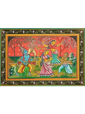 Lord Krishna Playing Holi with Gopis