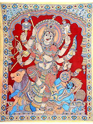 Eight-armed Mahishasuramardini Goddess Durga