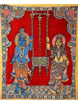 Radha Krishna with Swing