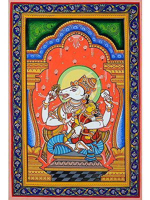 Hayagriva Avatar of Vishnu with Shakti