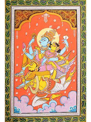 Lakshmi-Vishnu on Garuda