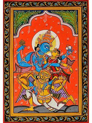 Shri Vishnu Lakshmi on Garuda