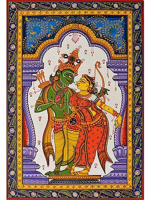 Lord Rama with Sita