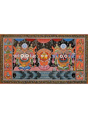 Shri Jagannatha of Puri With Dashavatara Border