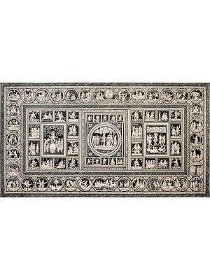 Life of Krishna with Ten Incarnations of Vishnu