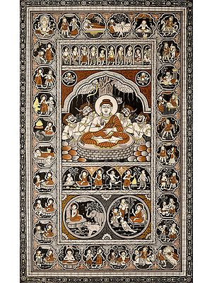 Temptation of Shakyamuni Buddha and His Life with Ten Incarnations of Vishnu